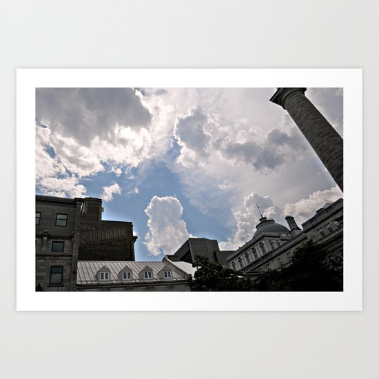 The Clouds Above Montreal Art Print