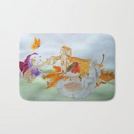 Watercolour painting of 'Fantasy' Bath Mat