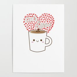 Cats And Coffee Lovers Poster