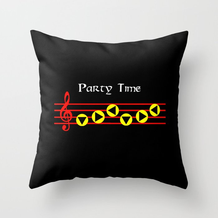 Party Time - Sarias Song Version 2 (The Legend Of Zelda: Ocarina Of Time)  Throw Pillow