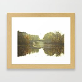 Herbst im Kanal, Berlin Framed Art Print