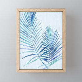 Feathery Palm Leaves Framed Mini Art Print