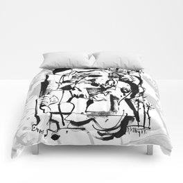 Sunrise - b&w Comforters