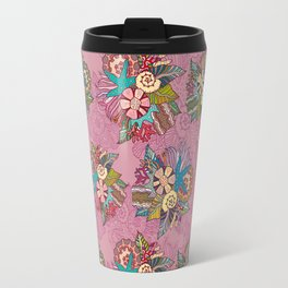 Ocean pink pattern Travel Mug