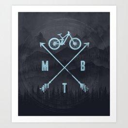 Downhill MTB Art Print