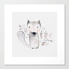 hello little fox Canvas Print