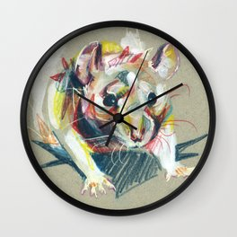 Baby rat Wall Clock