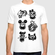 Binckey Mouse SMALL Mens Fitted Tee White