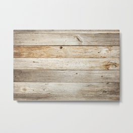 Rustic Barn Board Wood Plank Texture Metal Print