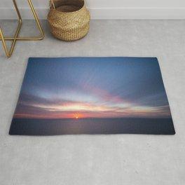 Malibu Sunrise D3 - California Ocean Sunrise Rug
