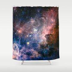 Carina Nebula's Hidden Secrets Shower Curtain