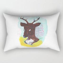 The Painterly Deer Rectangular Pillow