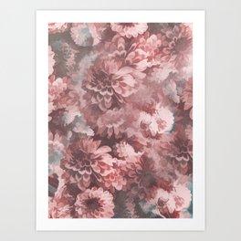 Vintage Flowers pattern 4 Art Print