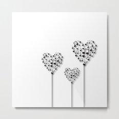 Music Love flowers Metal Print