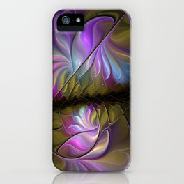 Come Together, Abstract Fractal Art iPhone Case