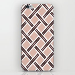 Modern Open Weave Pattern in Neutrals and Plums iPhone Skin