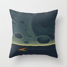 MERCURY Space Tourism Travel Poster Throw Pillow