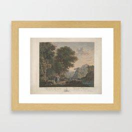 Arcadisch landschap met dansende figuren, Jacobus Wijsman, Felix Meritis, Jan Willem Pieneman, 1778 Framed Art Print