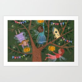 Fairytale tree Art Print