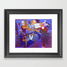 Out of Body Experience Framed Art Print