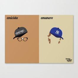 Emicida x Emanero Canvas Print