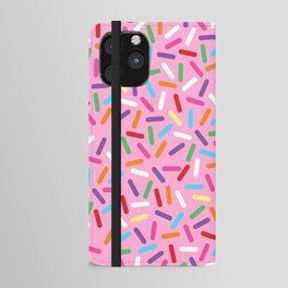 Pink Donut with Sprinkles iPhone Wallet Case