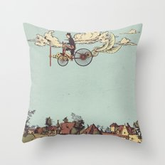 Steam FLY Throw Pillow