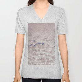 Pink Cotton Candy Clouds Unisex V-Neck