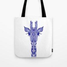 GIRAFFE BLUE Tote Bag