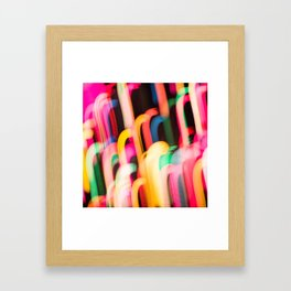 Neon Worms Framed Art Print