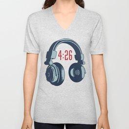 4:26 / The average length of a modern pop song Unisex V-Neck