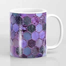 Purple geometric hexagonal elegant & luxury pattern Coffee Mug