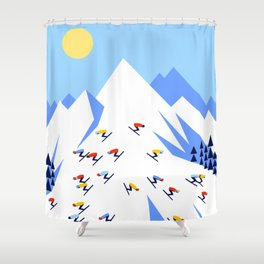 THE MOUNTAINS. PERFECT DAY! Shower Curtain