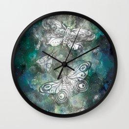 Night Moths Wall Clock