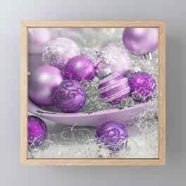 Fancy pink christmas Framed Mini Art Print