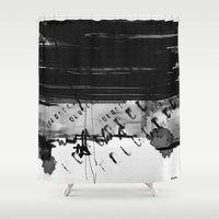code Shower Curtains featuring code by sladja