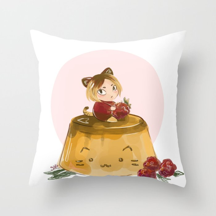 pudding Throw Pillow