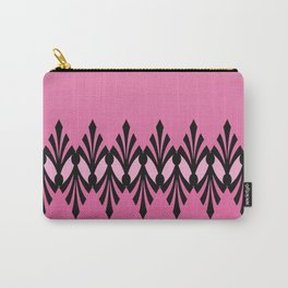 Art Deco Passionate Rose Pink Pattern Carry-All Pouch