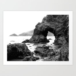 Low Tide Length by Jessi Fikan Black and White Art Print