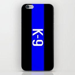 Police K-9 (Thin Blue Line) iPhone Skin