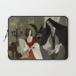 Mary Shelley and Her Creation Laptop Sleeve