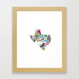 Texas Love Framed Art Print