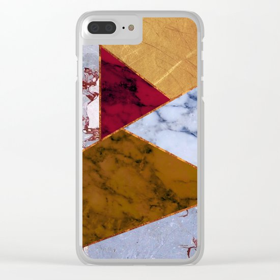 #437 Natural Textures Clear iPhone Case