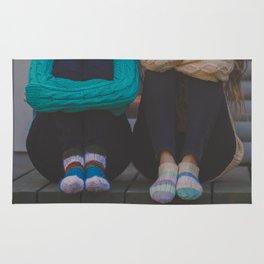 wool socks. Rug