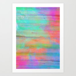 pastel coloured abstract design Art Print
