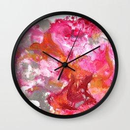 Magenta Explosion Wall Clock