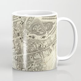 Vintage Map of Edinburgh Scotland (1844) Coffee Mug