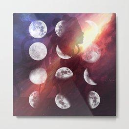 Moon Goddess Selene Metal Print