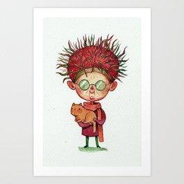 A loony Rambutan Art Print