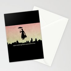 mary poppins Stationery Cards